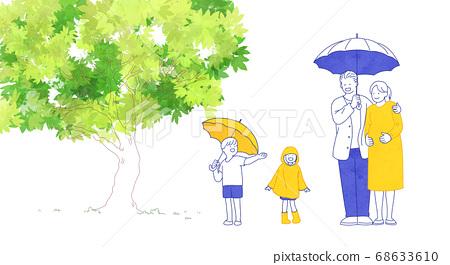 Happy and loving family hand drawn illustration 008 68633610