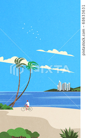 Beautiful summer landscape illustration 004 68633631