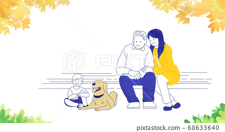 Happy and loving family hand drawn illustration 003 68633640