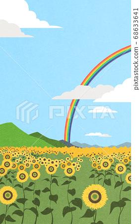 Beautiful summer landscape illustration 002 68633641