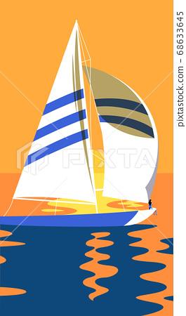 Summer tropical background design illustration 003 68633645