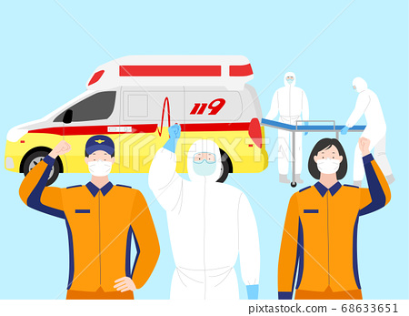 Victory over the virus. Stopping an epidemic infection illustration  004 68633651
