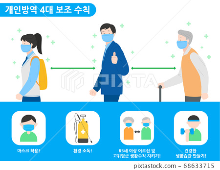 Social distancing, keep distance in public society people to protect from COVID-19 illustration 002 68633715
