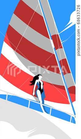 Summer tropical background design illustration 004 68633726