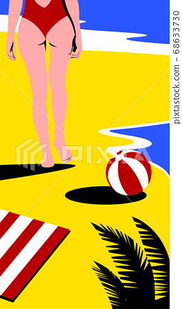 Summer tropical background design illustration 008 68633730