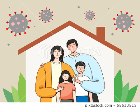 Concept of people protecting from corona virus infection illustration 002 68633815