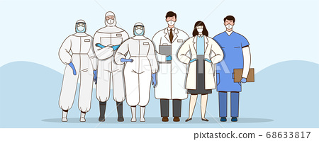 Concept of people protecting from corona virus infection illustration 001 68633817