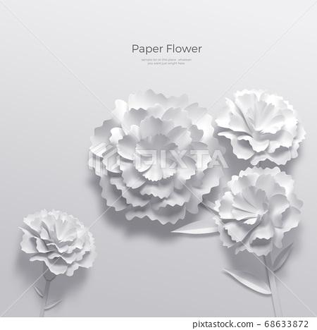 3D realistic paper Flowers 006 68633872