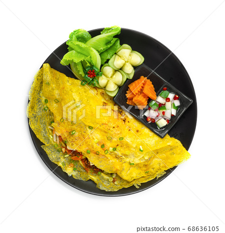 Vietnames Savory Crepe Banh xeos crepes with the 68636105