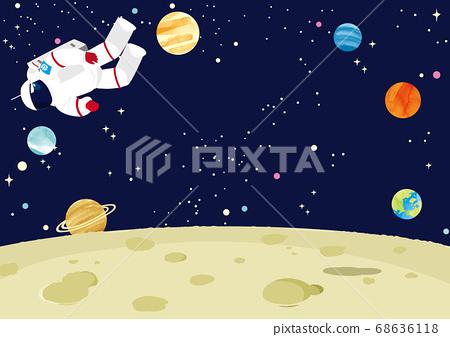 月亮和宇航員 68636118
