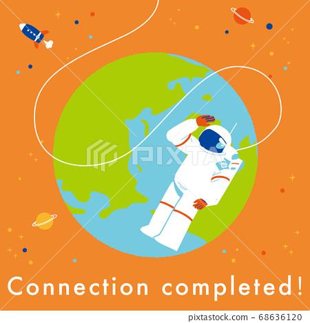 地球和宇航員連接完成 68636120