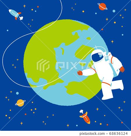 地球和宇航員 68636124