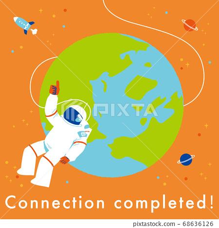 地球和宇航員連接完成 68636126