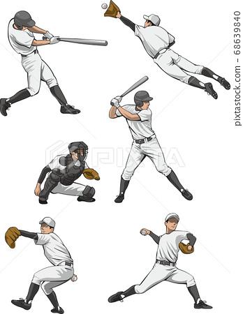 棒球運動員圖像插圖集 68639840