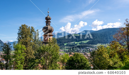 landscape of Brunico in the Puster Valley 68640103