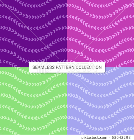 Seamless pattern with arrow shapes, vector illustration 68642298