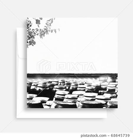 한국의 전통 캘리그라피 배경, 추석, 수채화배경 68645739