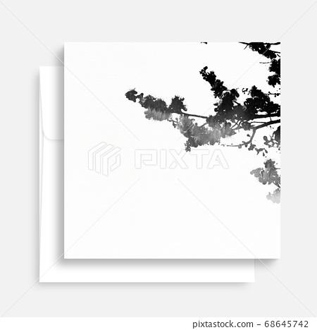 韓國傳統書法背景,中秋,水彩背景 68645742