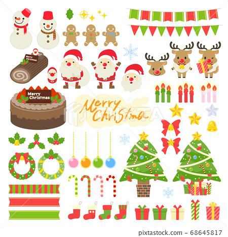 크리스마스 일러스트 소재 68645817