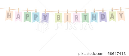 bright happy birthday party flags banner 68647418