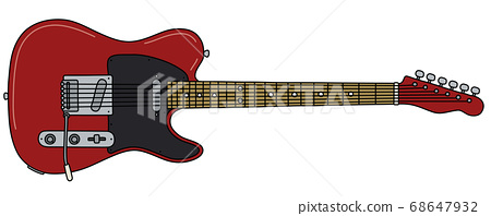 The classic black and red electric guitar 68647932