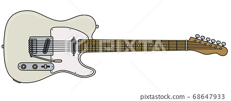 The classic white electric guitar 68647933