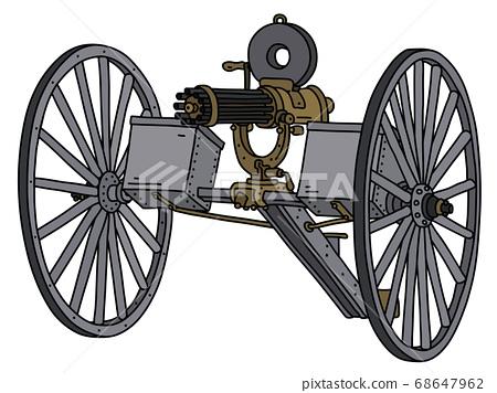 The vintage machine gun 68647962