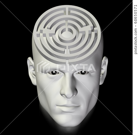 maze of thought abstract 3d illustration 68650571