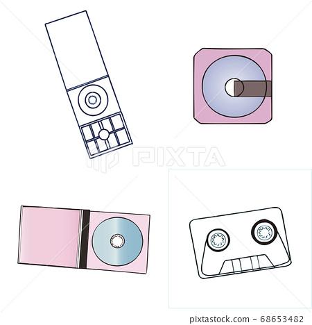 各種複古音樂媒體(盒式磁帶,8厘米單張,MD,CD專輯(最大單張) 68653482