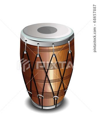Punjabi drum called Dhol. Drum in the Indian style 68657887