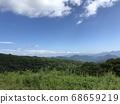 햇빛 霧降高原 언덕 위에서 시내를 내려다 보는 하늘과 자연의 경치 68659219