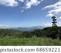 햇빛 霧降高原 언덕 위에서 시내를 내려다 보는 하늘과 자연의 경치 68659221