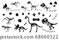 恐龍化石和足跡輪廓材料集_插圖 68660322