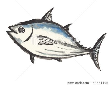 魚手繪插圖用刷子 68661196