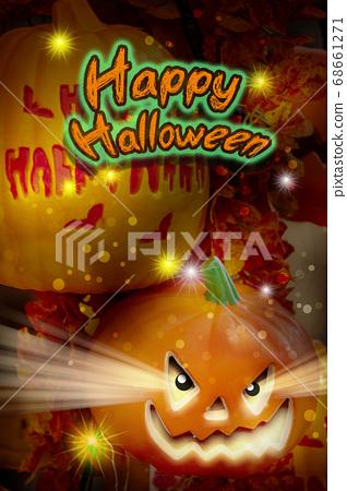 萬聖節,南瓜飾品,ハロウィーン、カボチャの装飾品、Halloween, greeting card, 68661271