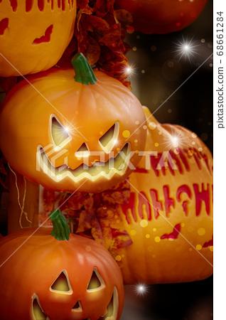 萬聖節,南瓜飾品,ハロウィーン、カボチャの装飾品、Halloween, greeting card, 68661284