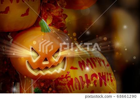 萬聖節,南瓜飾品,ハロウィーン、カボチャの装飾品、Halloween, greeting card, 68661290