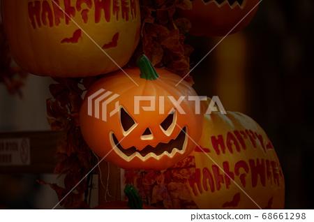 萬聖節,南瓜飾品,ハロウィーン、カボチャの装飾品、Halloween, greeting card, 68661298
