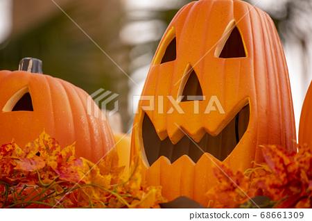 萬聖節,南瓜飾品,ハロウィーン、カボチャの装飾品、Halloween, greeting card, 68661309