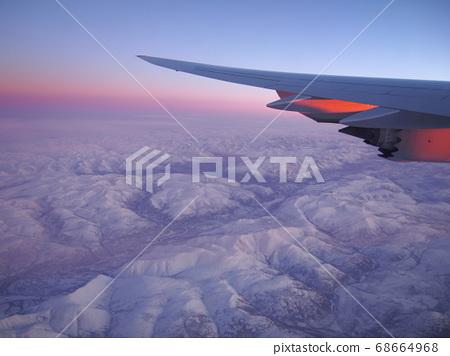 從天空看西伯利亞日出 68664968