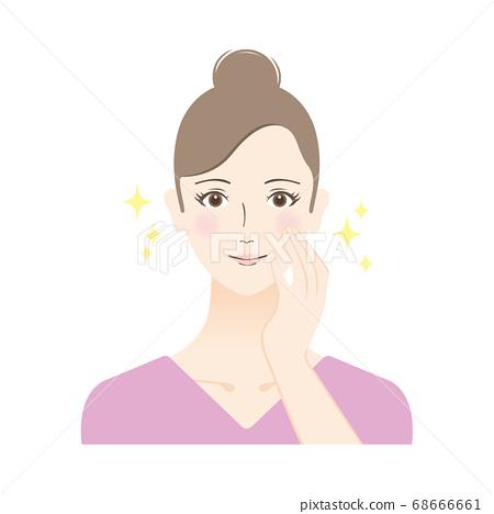 피부 미용 여성의 일러스트 68666661