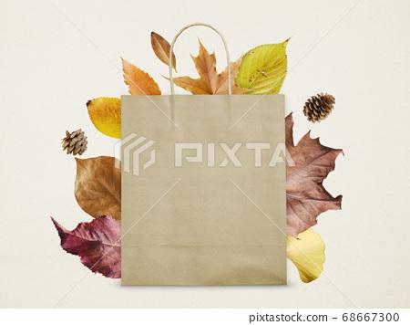 落葉和購物袋 68667300