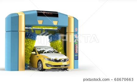 automatic car wash presentation concept car 68670663