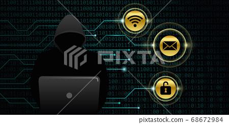 hacker steals digital personal data 68672984