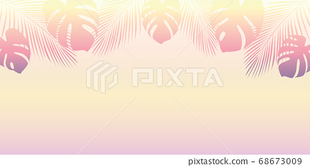 palm trees silhouette on a sunny day 68673009