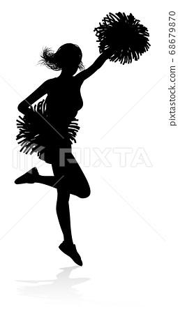 Cheerleader Silhouette 68679870