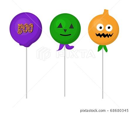 Halloween Keypops, Lollipop Recipes FOR HALLOWEEN. DESSERTS. Isolated element. Vector illustration 68680345