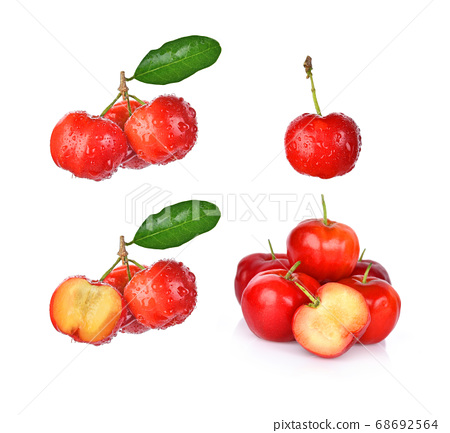 Set of cherry isolated on white background 68692564