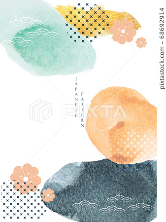 Abstract art background with watercolor texture 68692914