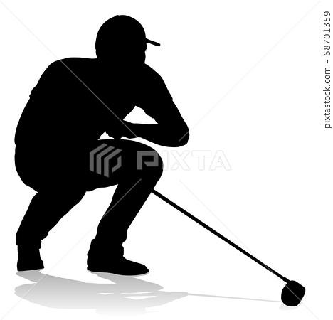 Golfer Golf Sports Person Silhouette 68701359